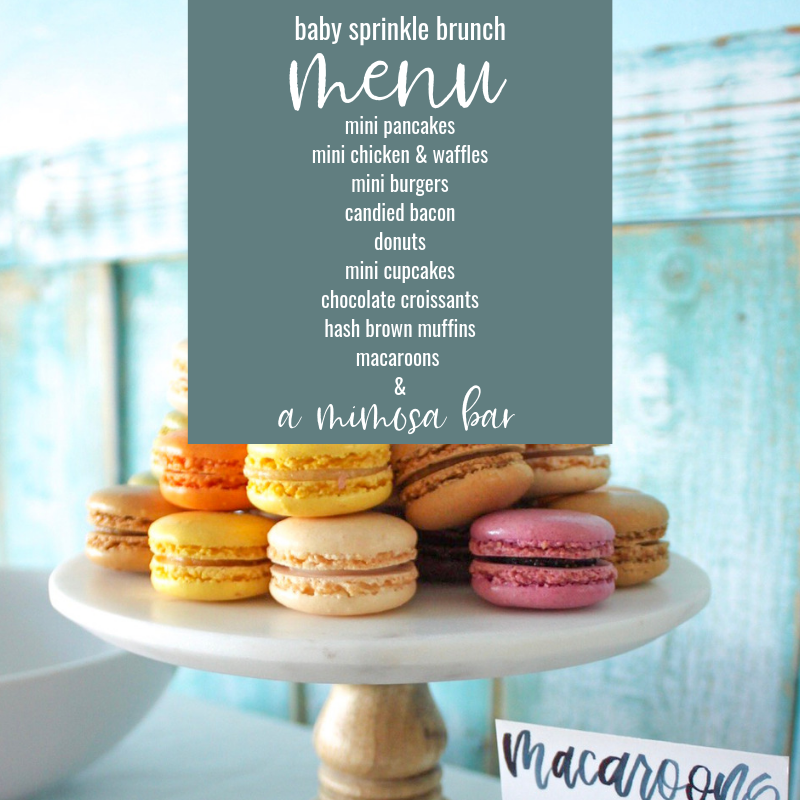 Baby Sprinkle bunch menu