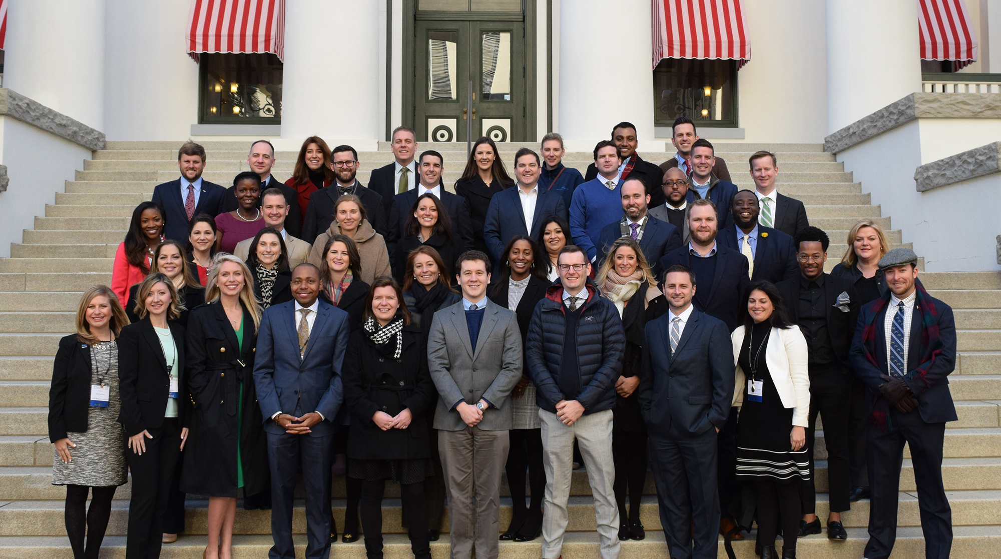 CFL's executive director , Traci Deen, pictured front row, third from left, with Leadership Florida Connect classmates at Florida's Historic Capitol in Tallahassee Florida.