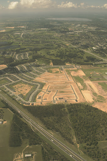 A housing development being built near Clermont, Florida.