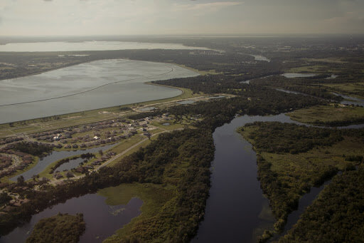The St. Johns River, Konomac Lake, and Lake Monroe (From nearest to farthest)
