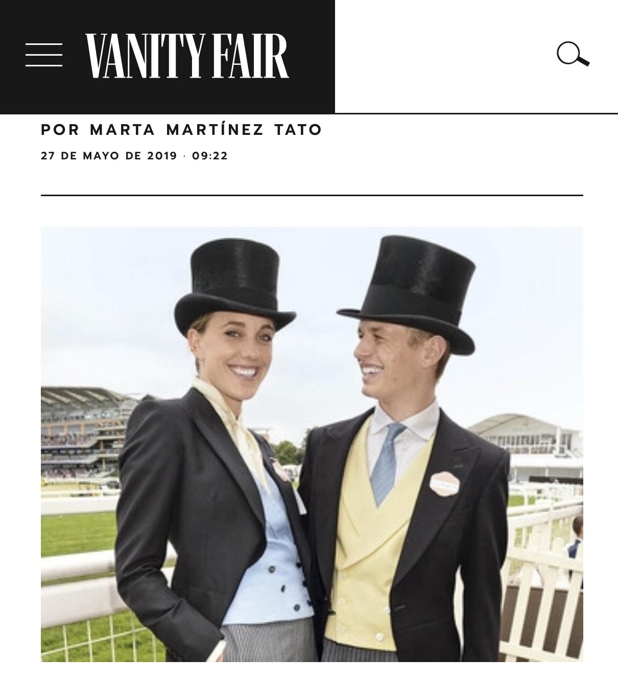 Vanity Fair - La bisnieta que esta revolucionando la sastrería femenina. En 2016, Knatchbull se convirtió en la primera mujer en desafíar la etiqueta de Ascot vistiendo un traje de caballero