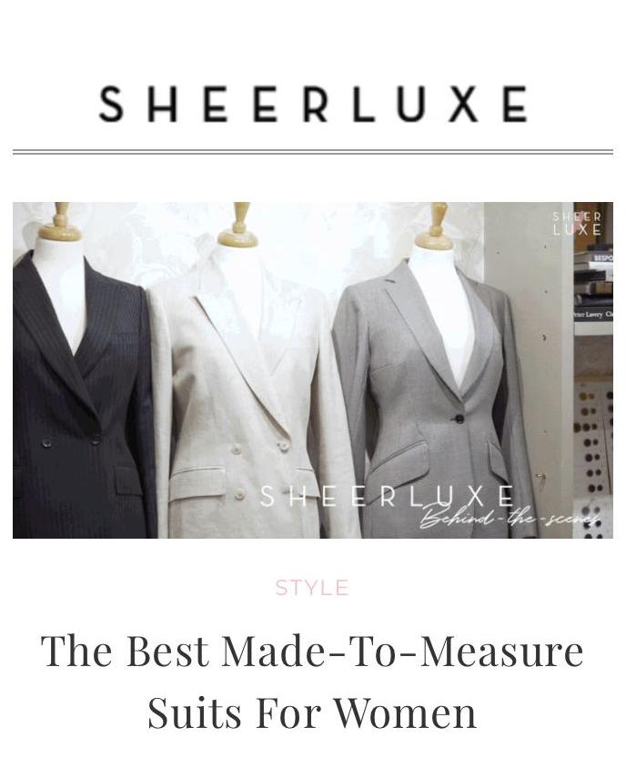 Sheerluxe: The best made-to-measure suits for women -  Sheerluxe Founder, Georgia Coleridge Cole, stops by The Deck's Chelsea atelier to interview them about the process of making a suit.