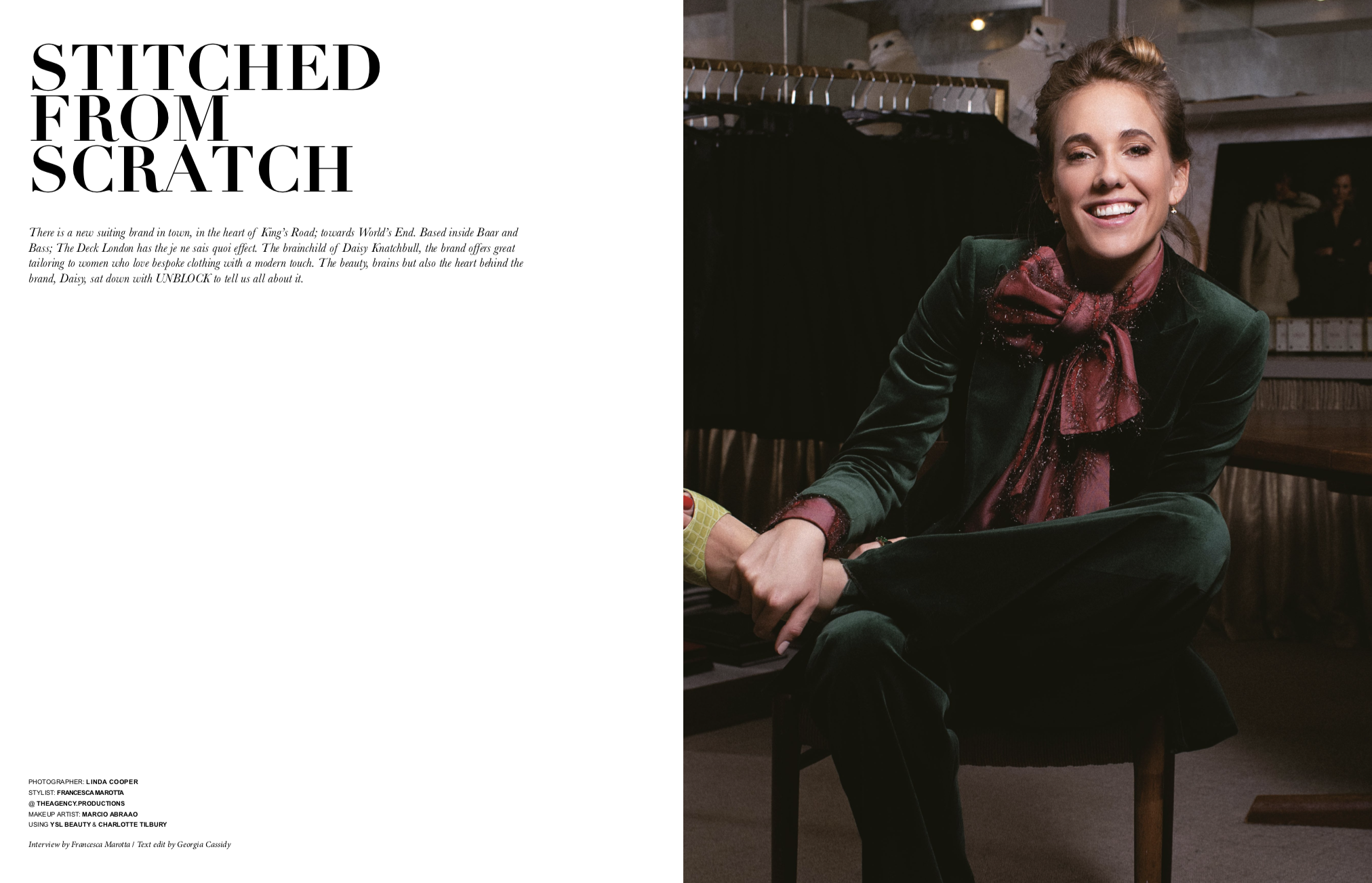 UNBLOCK: Stitched from Scratch - There is a new suiting brand in town, in the heart of the King's Road. The Deck London has the je ne sais quoi effect.