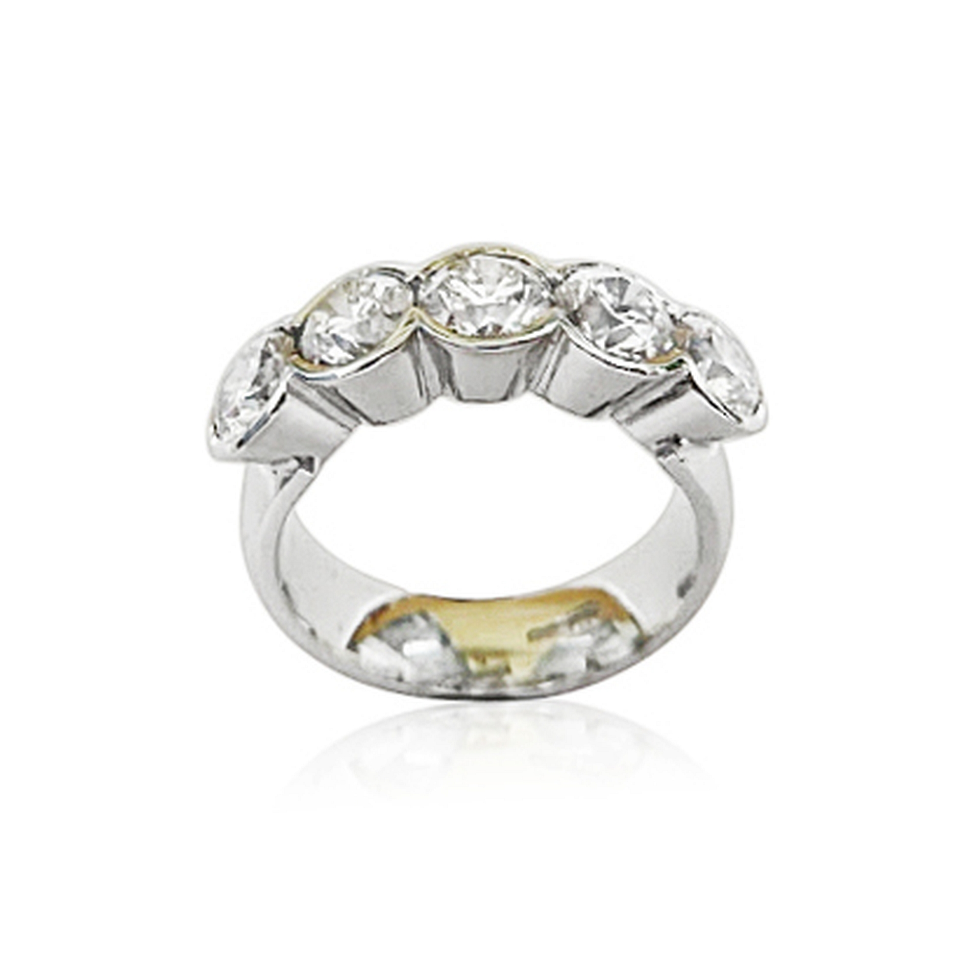 2.5ct F colour vvs round brilliant cut diamonds in 18ct white gold clients own stones all certified stones a handful of bling right there.