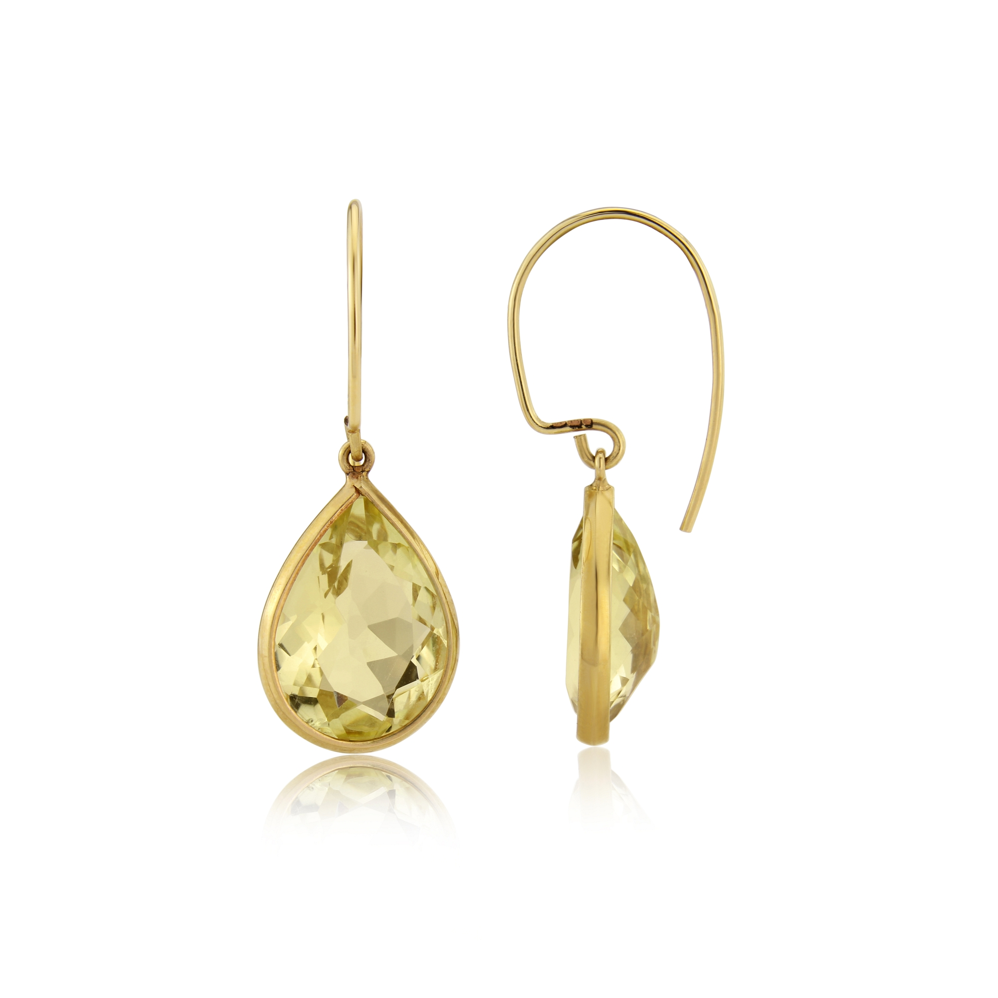 Lemon Citrine specticle set in yellow gold with Hand Made wire's  SOLD