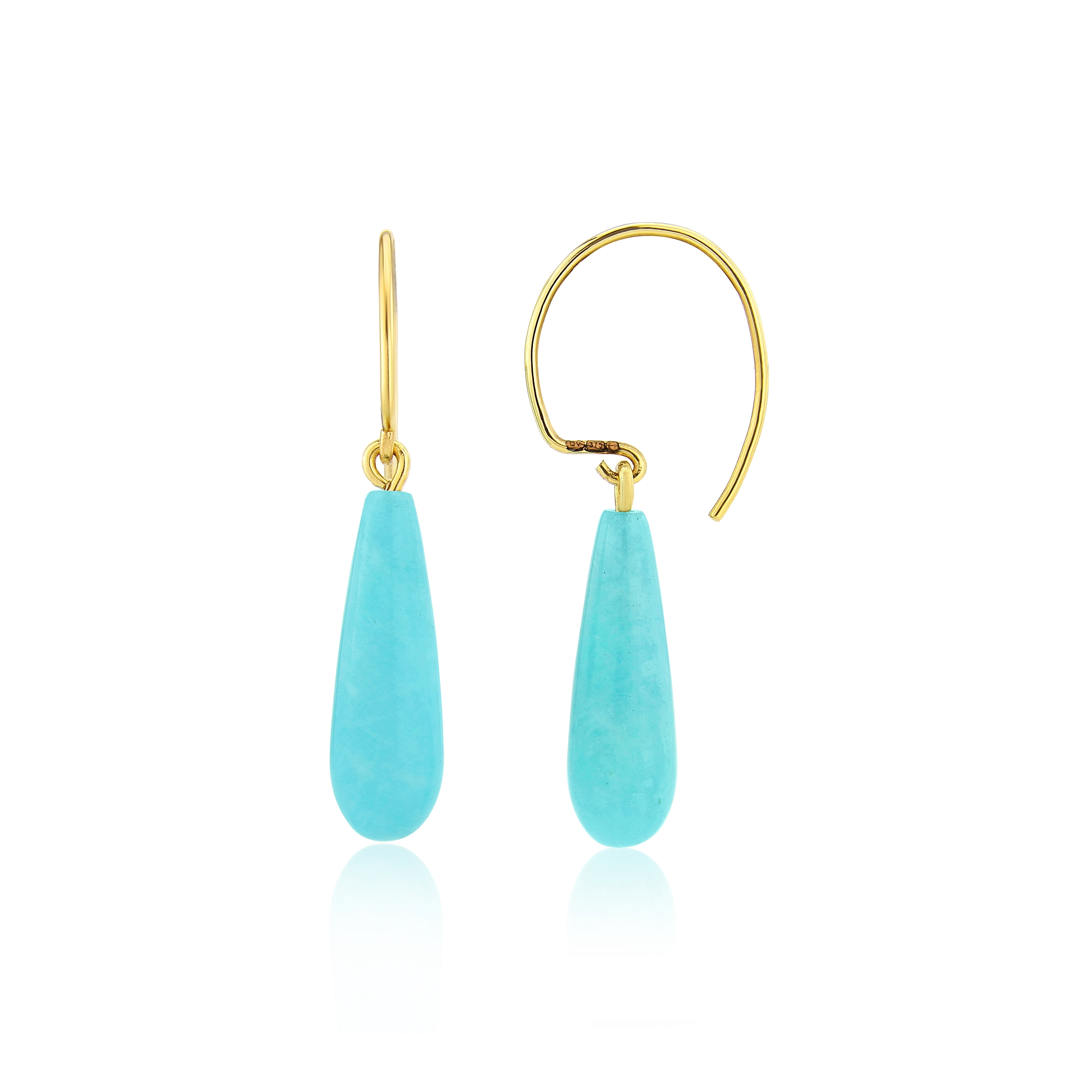 Amazonite pippins on hand made gold wire's