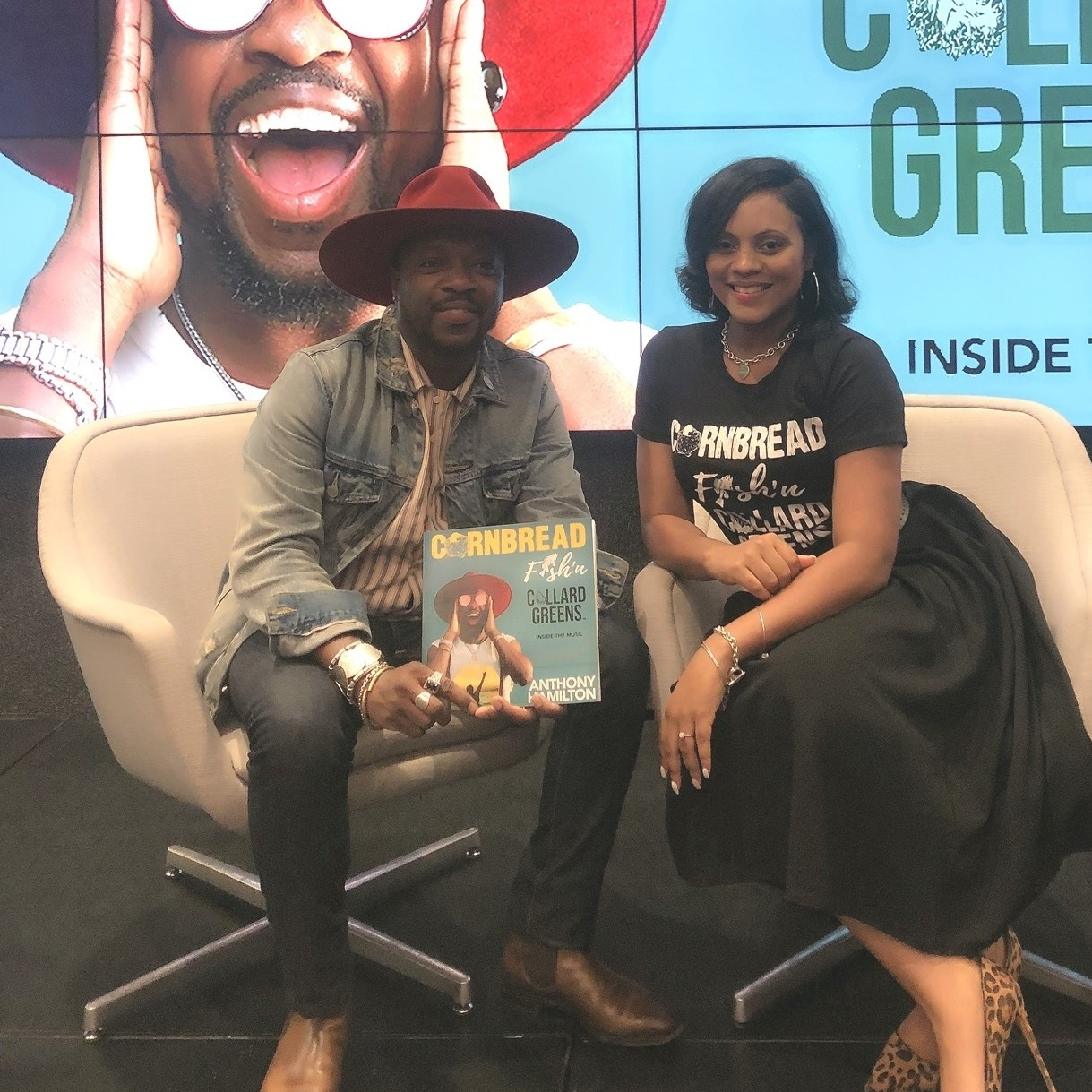 """ANTHONY HAMILTON RELEASES HIS LIMITED EDITION BOOK """"CORNBREAD FISH'N COLLARD GREENS."""