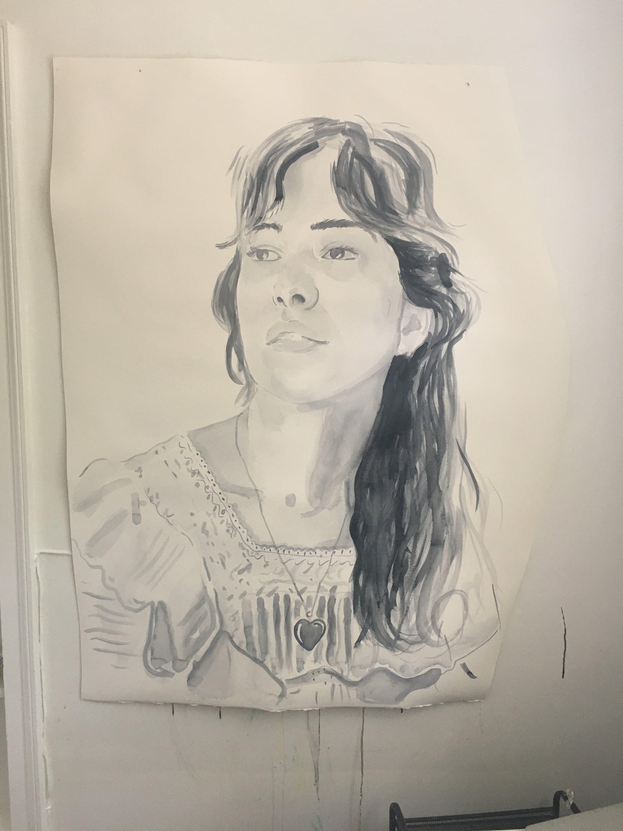 studio progress -watercolor on Paper