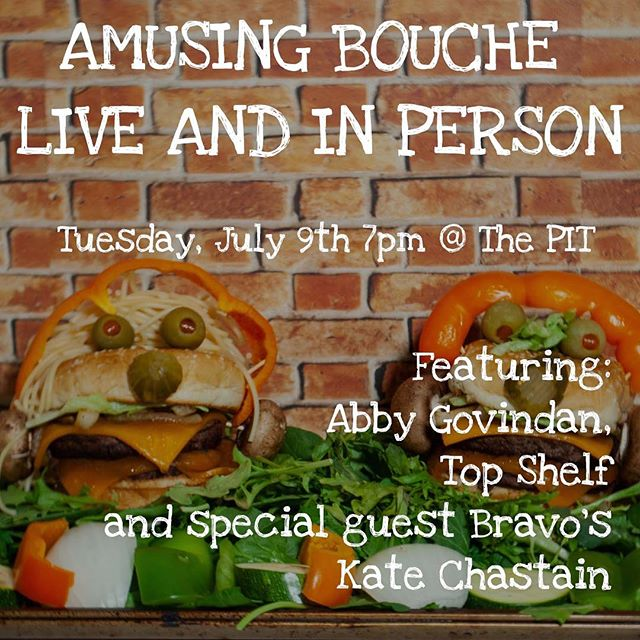 ***Big news*** I'm taking @amusingbouchepod to the stage! There will be comedy, there will be me and there will be some sort of edible item! Don't miss the first show on July 9th featuring @abby.go and @florencekf with Top Shelf and my special guest @kate_chastain !