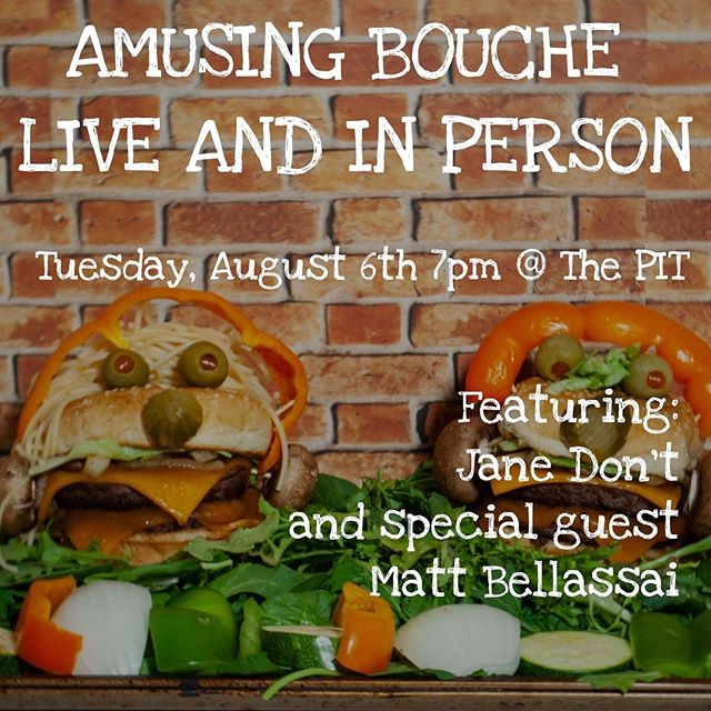 I know what you're doing Tuesday night! Come See @amusingbouchepod live and in person! This month's show features the hilarious @janedontnyc and very special guest @mattbellassai ! Come thru! Get your tickets now by clicking on the link in my bio! #comedy #podcasts . . . . #cupcakes #foodprep #decoratingcupcakes #funnypeople #laughs #thepitnyc @thepitnyc #comedyshow #livecomedy #pleasecometothisshowiminit