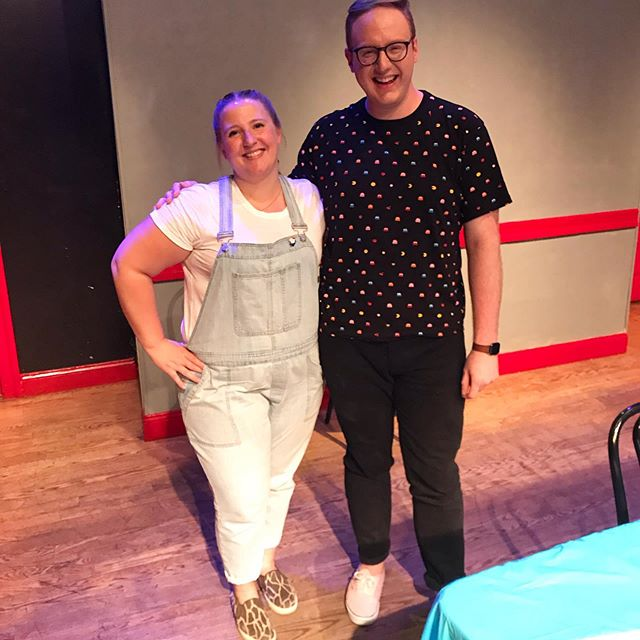 An amazing show last night! I'm so grateful and proud of Amusing Bouche: Live and In Person! Big thank you to @janedontnyc for performing and snapping this pic of me and our special guest @mattbellassai ! If you missed this month's show, we've got a great one for you next month too on September 10th!