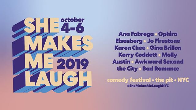So excited to be a part of this festival this weekend with all of these talented people! Come through and check it out! #womenincomedy . . . #comedy #livecomedy #laughs😂 #shemakesme laugh #shemakesmehappy #shemakesmyday #shemakesmestronger #laughterisgoodforthesoul #comedyshow #standupcomedy #improvcomedy #improv #womensupportwomen #funnyladies #shinetheory #weekendthings #funinnewyork #nyc