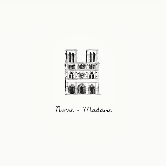 Heartbroken by this tragedy and great loss of Our Lady of Paris 🖤 Sending strength & prayers to France and the firefighters 🇫🇷🙏 #NotreDame #PrayforParis #HolyWeek . . . Illustration by @unbouillondelaq