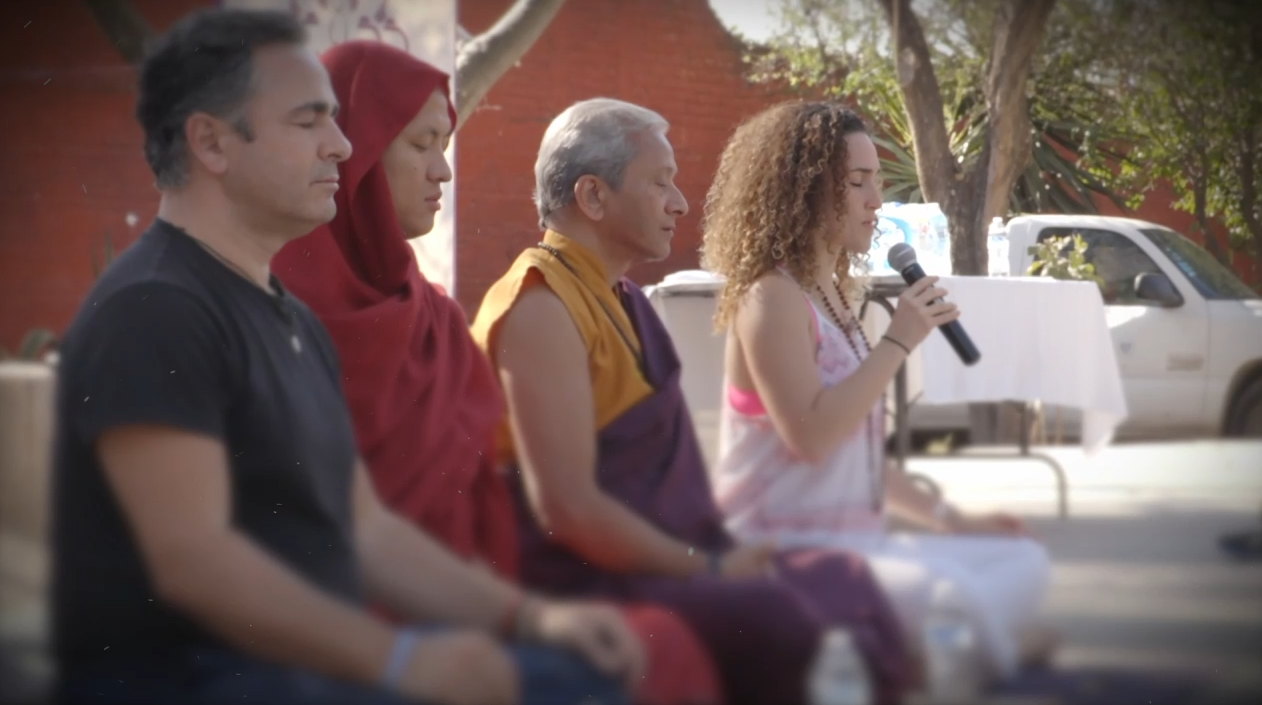 World Happiness Fest    2017, San Miguel de Allende.   Luis Gallardo, Khedrup Rinpoche, Saamdu Chetri and Ileana Ponce.