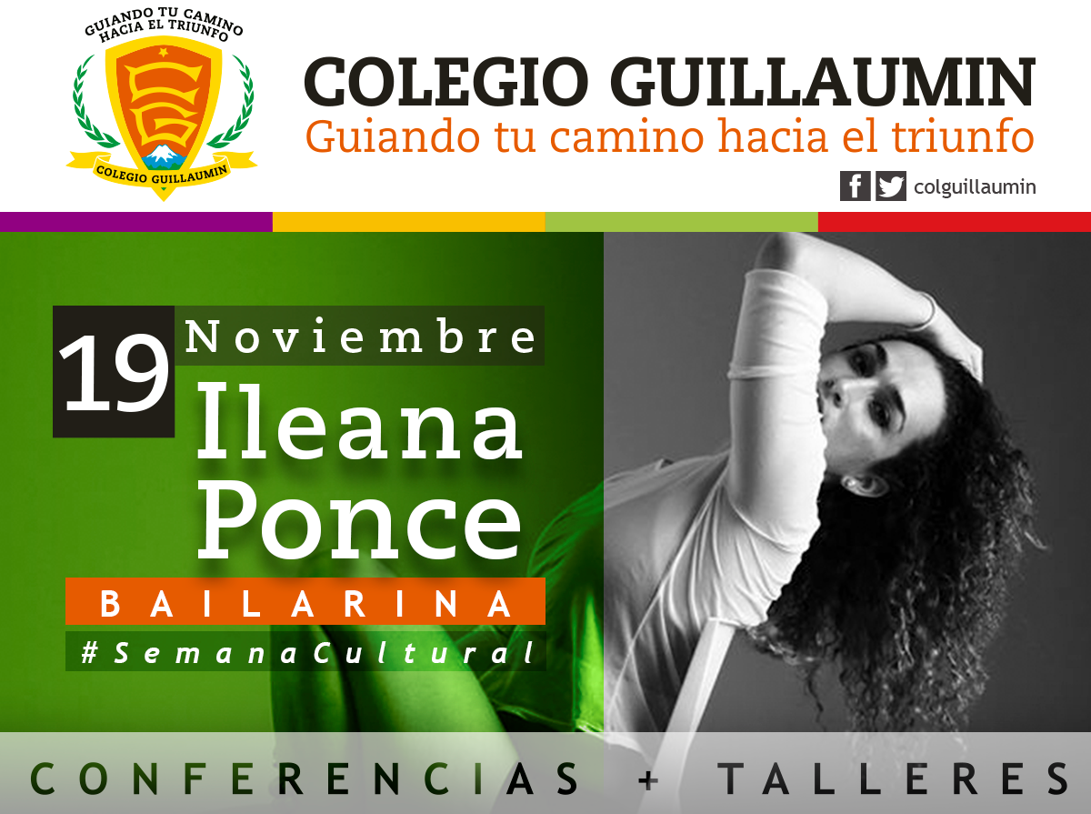 "Conference ""Leading Consciousness"" at Colegio Guillaumin.   Ileana Ponce host by Iartlife Enterprises."