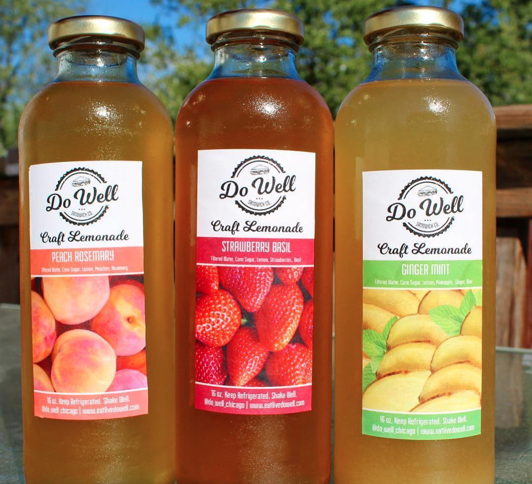 Craft Lemonade - Handcrafted with REAL fruit, FRESH herbs, and PURE cane sugar, Do Well Craft Lemonade will surely refresh your palette. Try all five delicious flavors!~ Blueberry Herb~ Cherry Mint Lime~ Ginger Mint~ Peach Rosemary~ Strawberry Basil