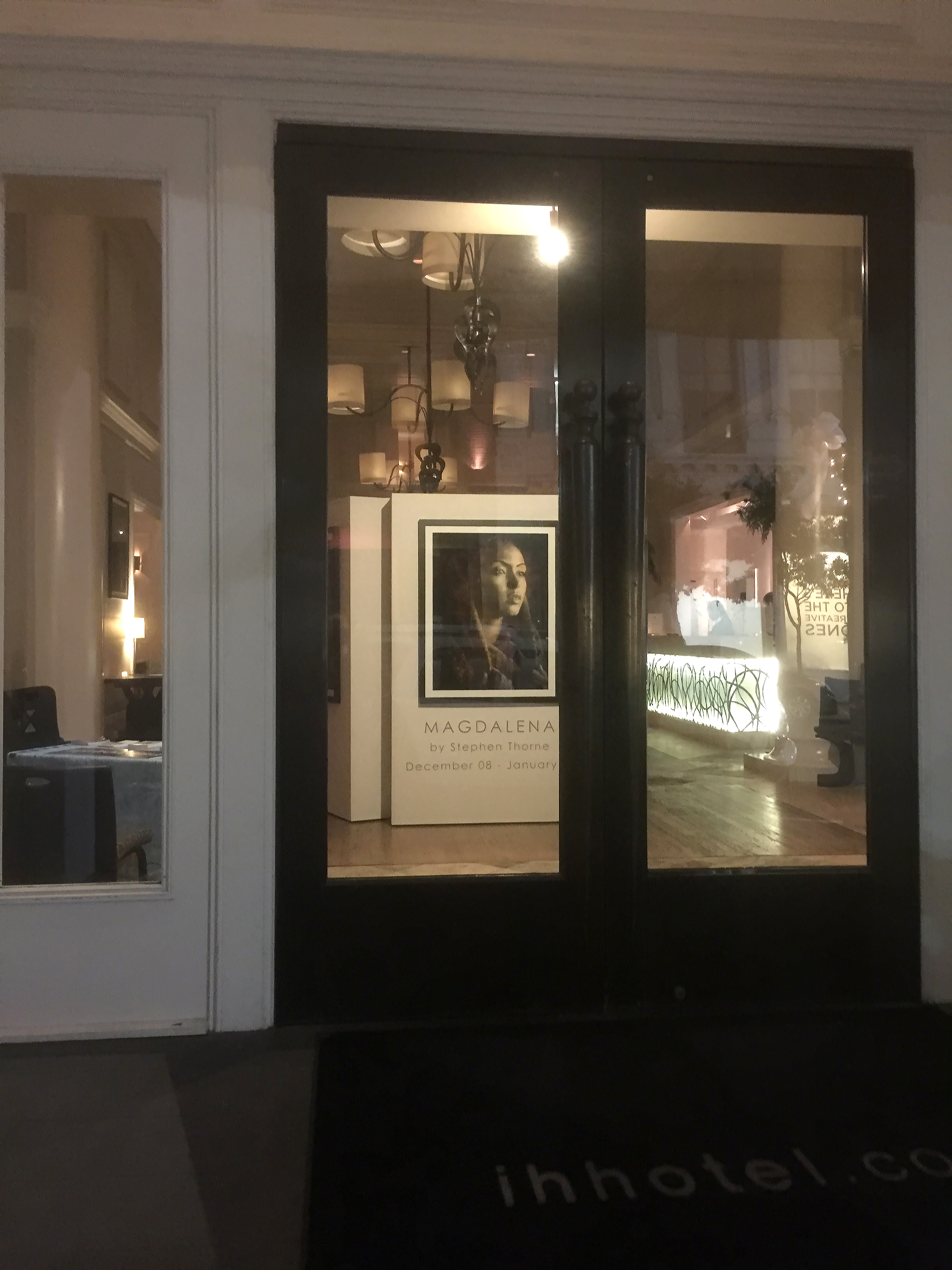 Magdalena  solo exhibition at the International House in New Orleans, December 2016.