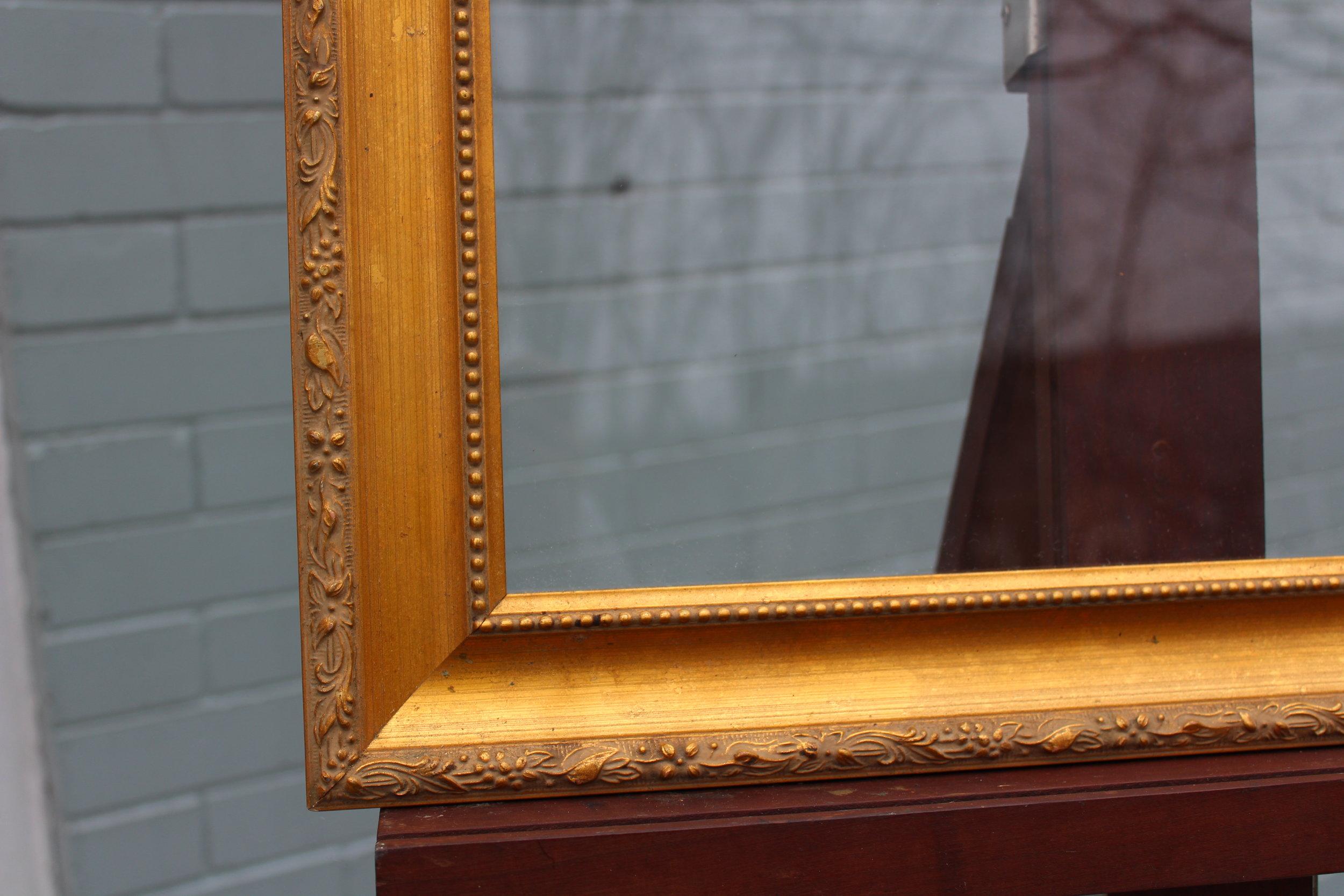 Glass: 15 x 29 Frame: 19 x 33