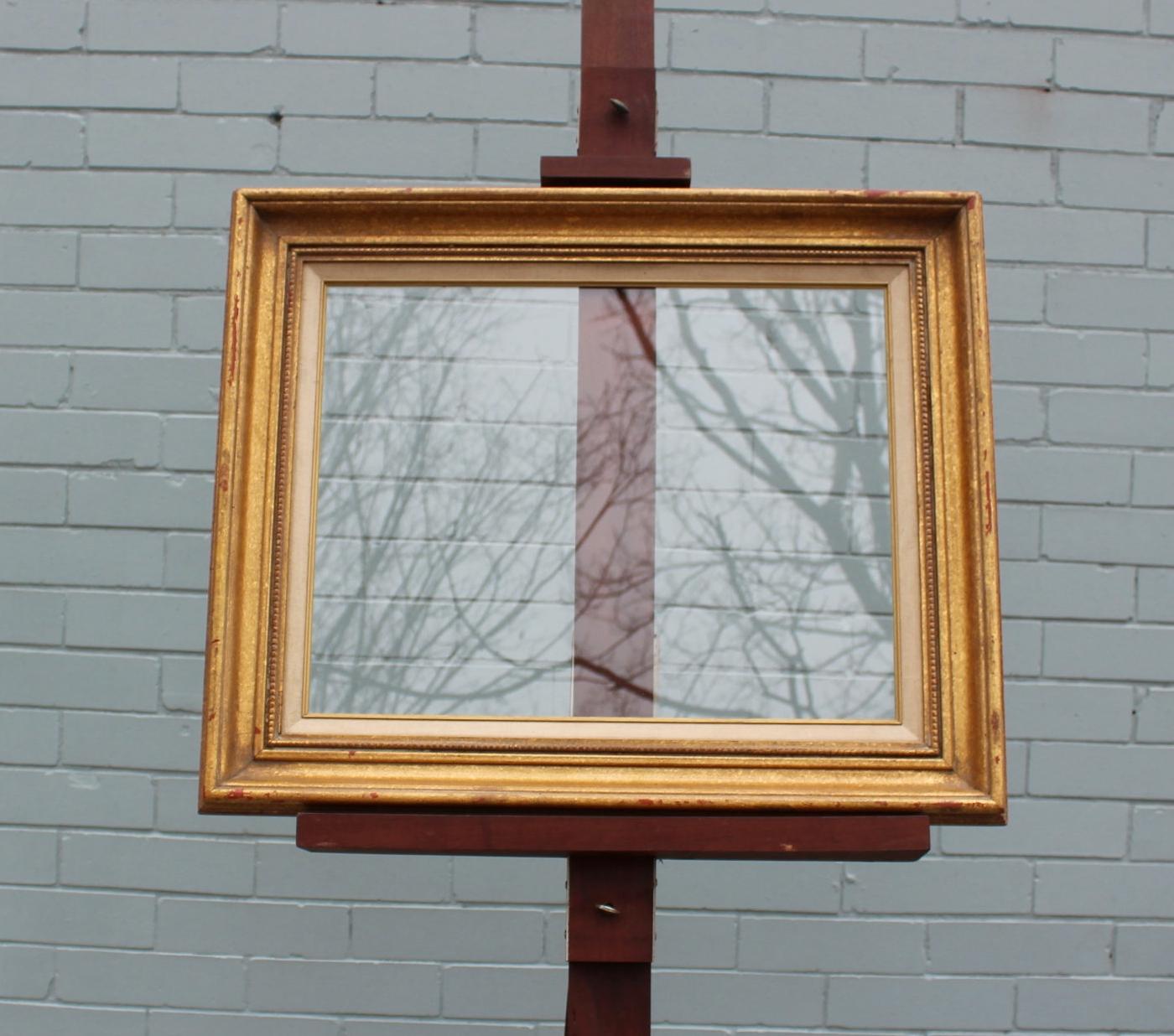 Glass: 14 x 18 Frame: 20 x 24