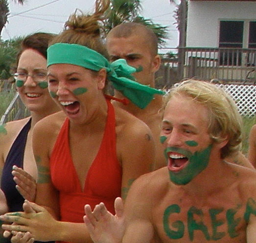 Josh and Danielle Whiting (killin' it on the Green Team) at Panama City a zillion years ago, before we ever got together. (We won that year.)
