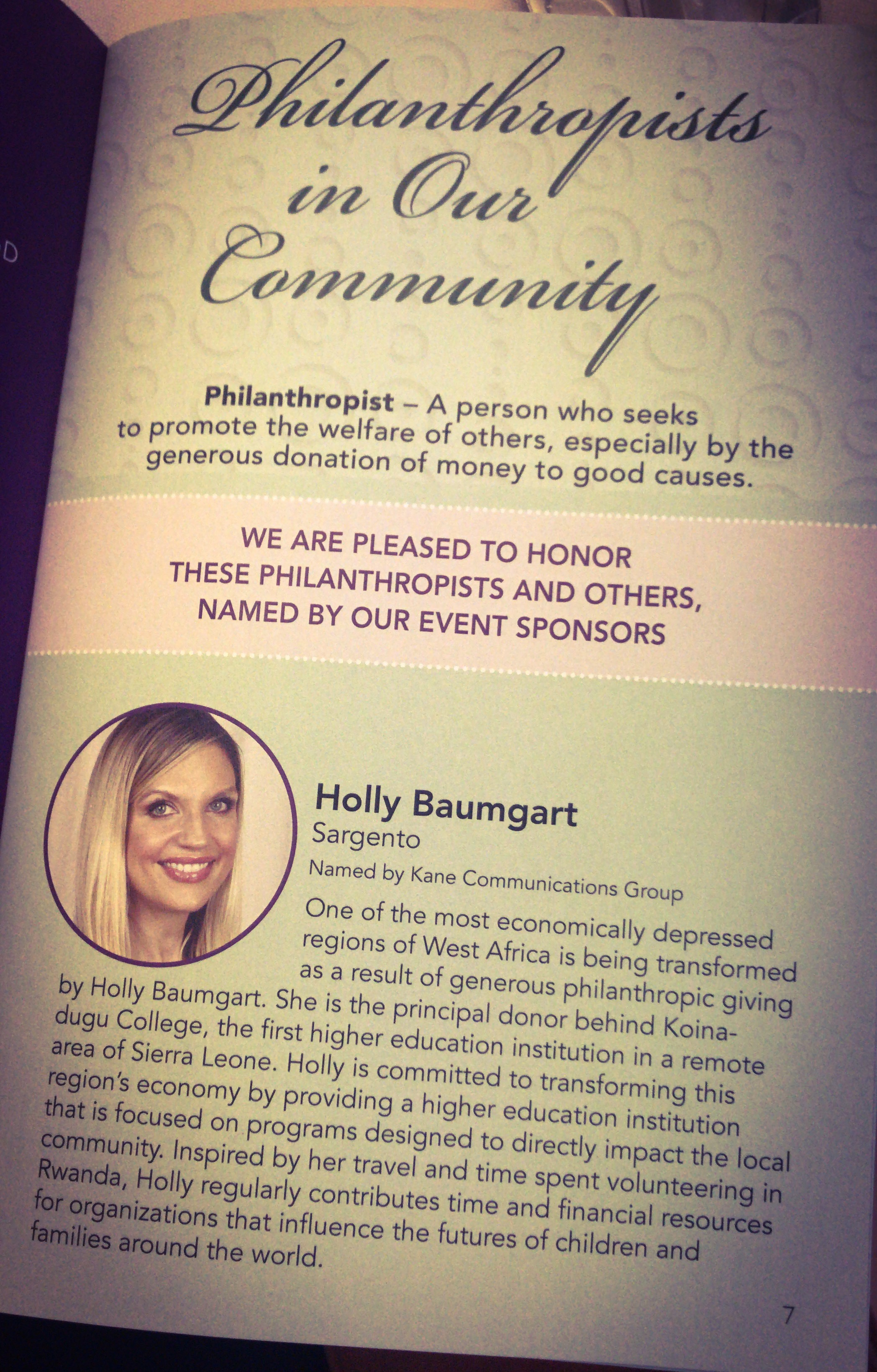 Holly Baumgart Women's Fund of Greater Milwaukee