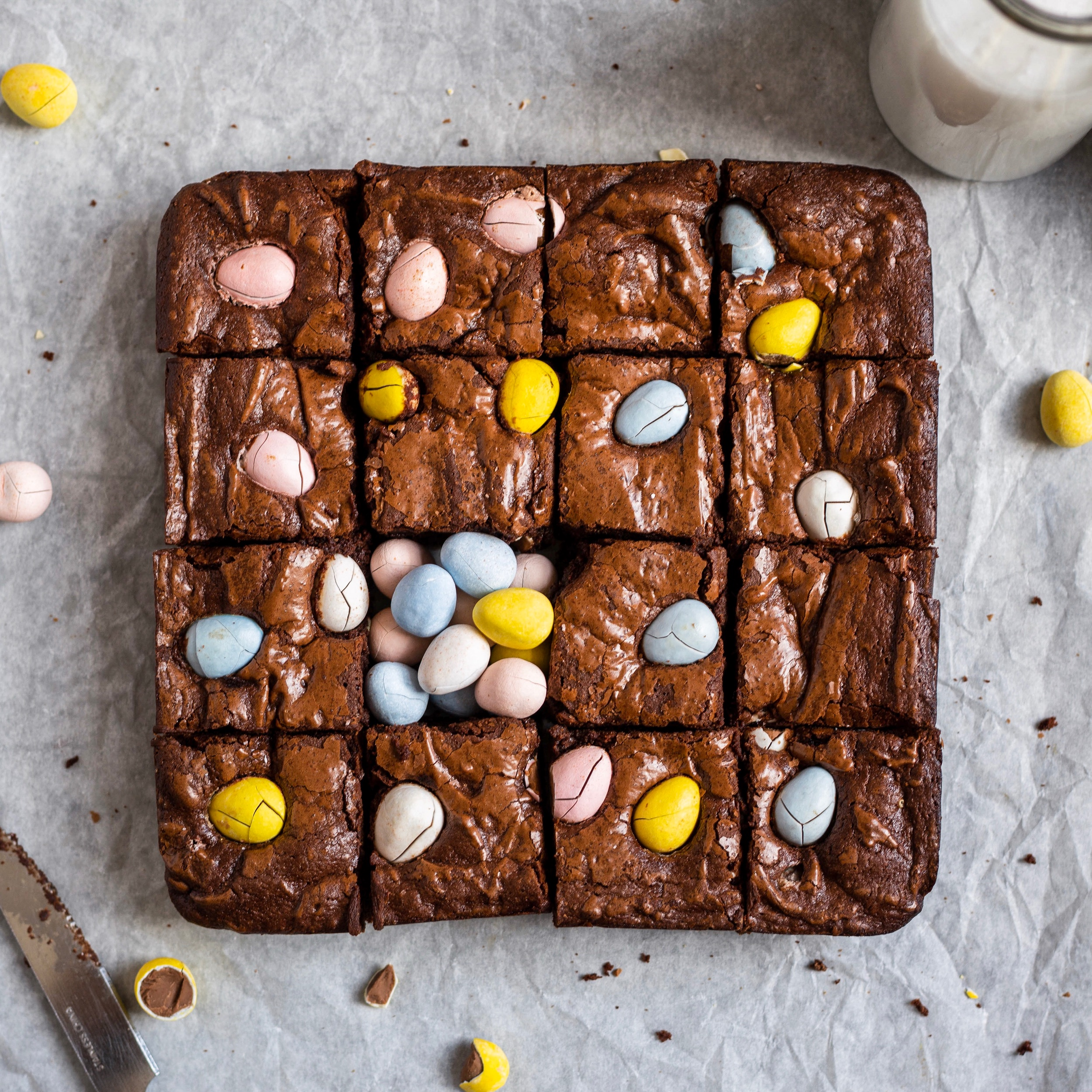 Mini Egg Brownies -