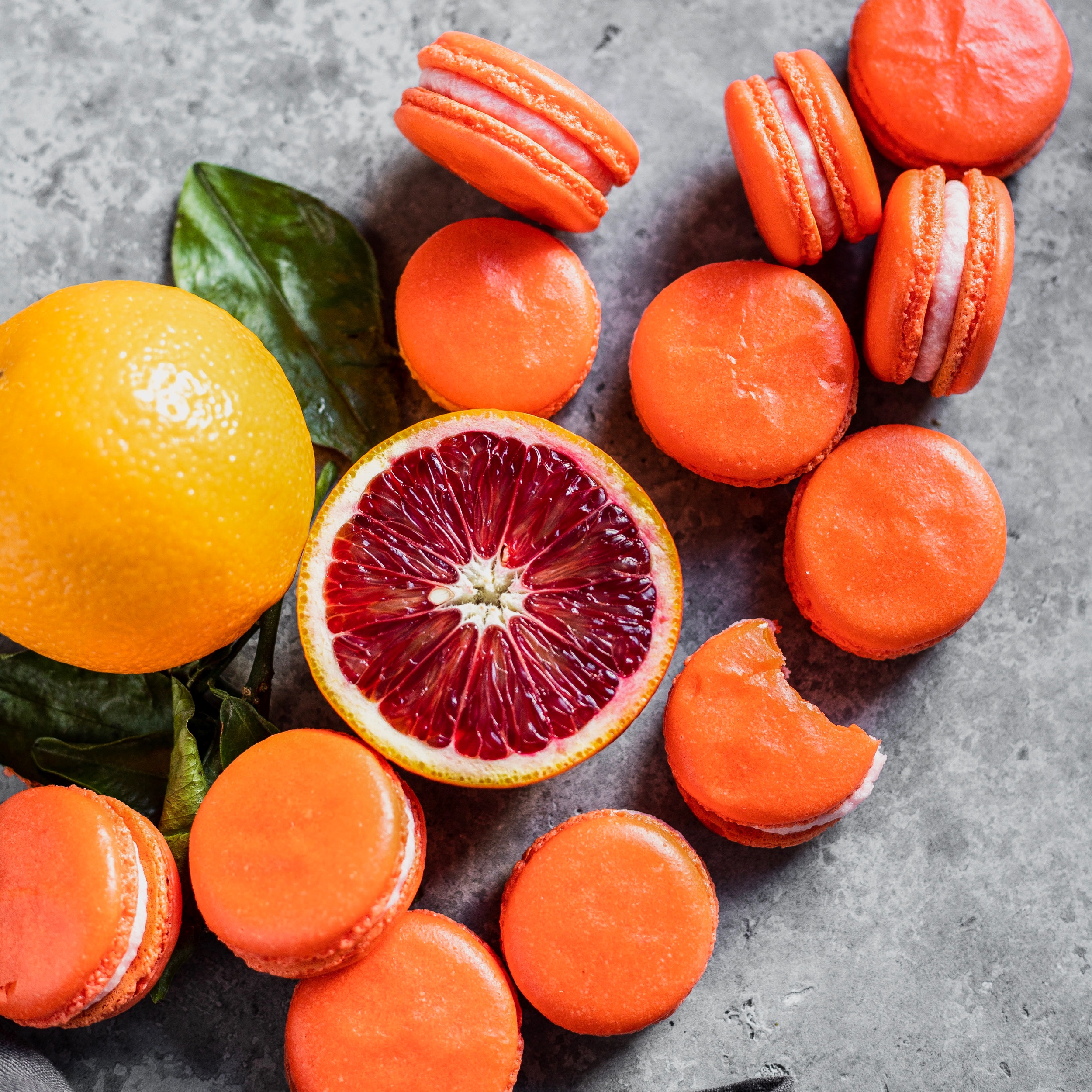 Blood Orange Macarons -