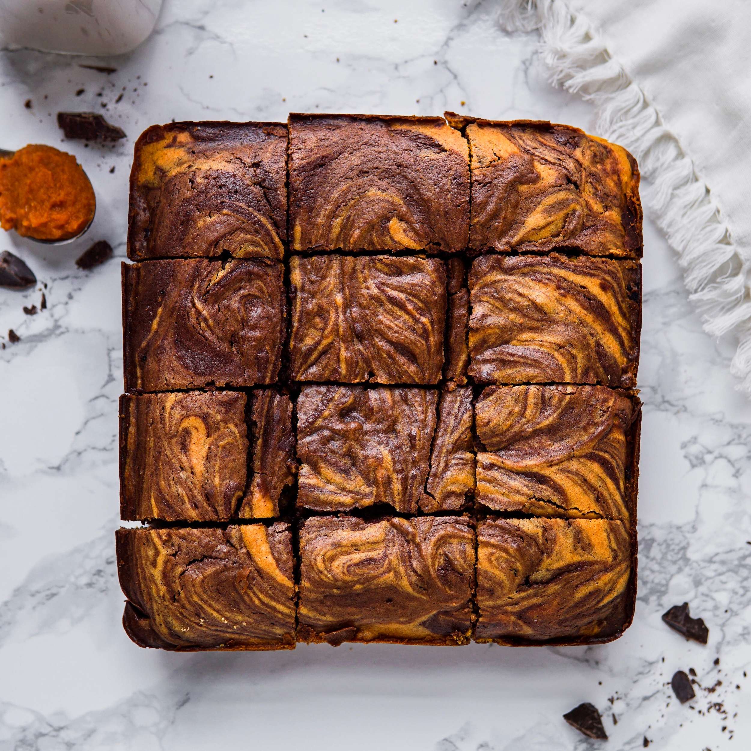Pumpkin Swirl Brownies -