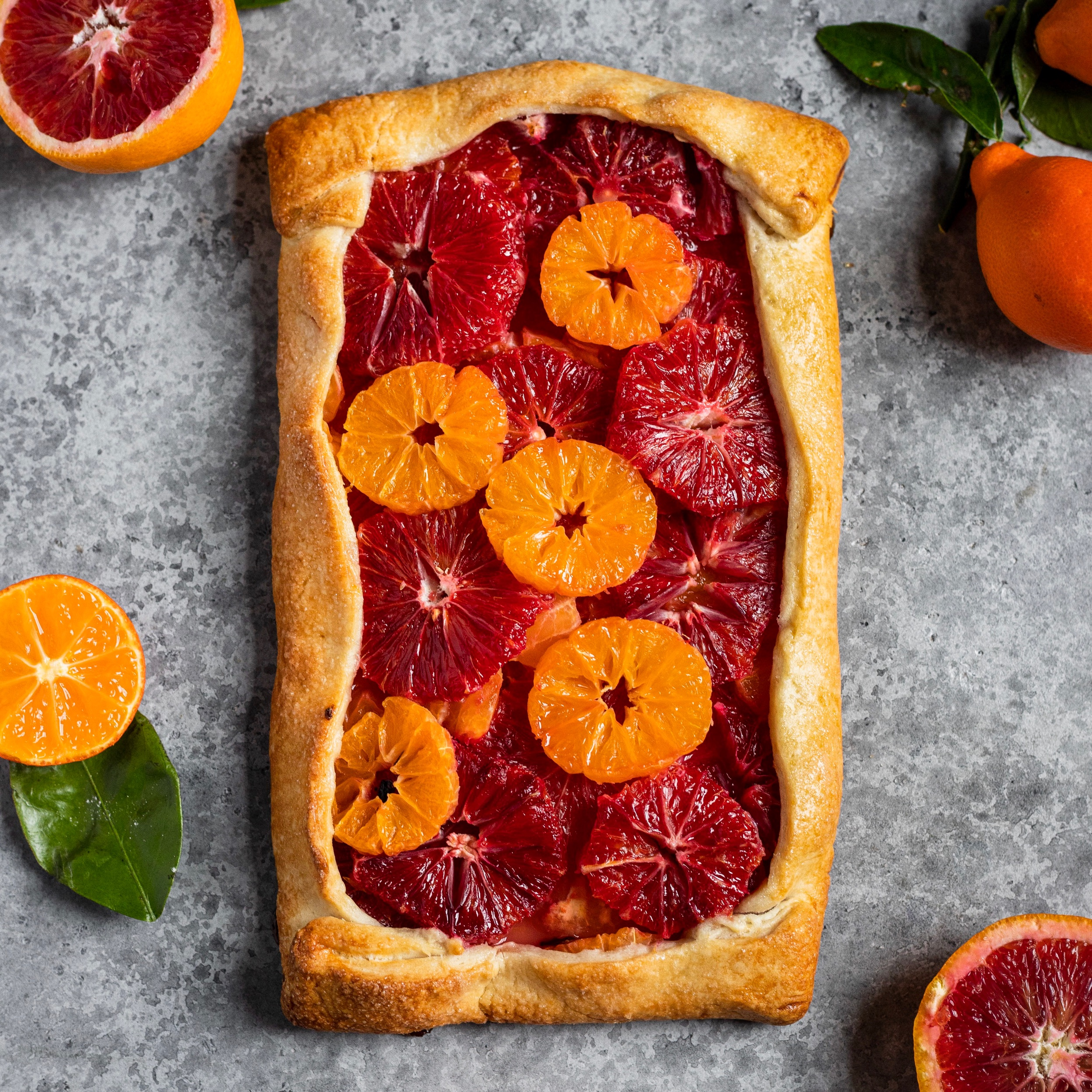 Blood Orange & Mandarin Galette -