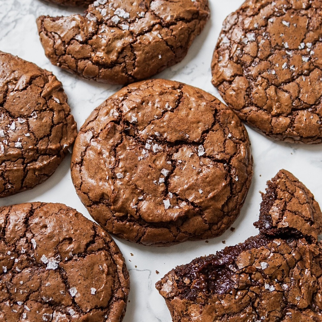 Fudgy Brownie Crinkle Cookies -