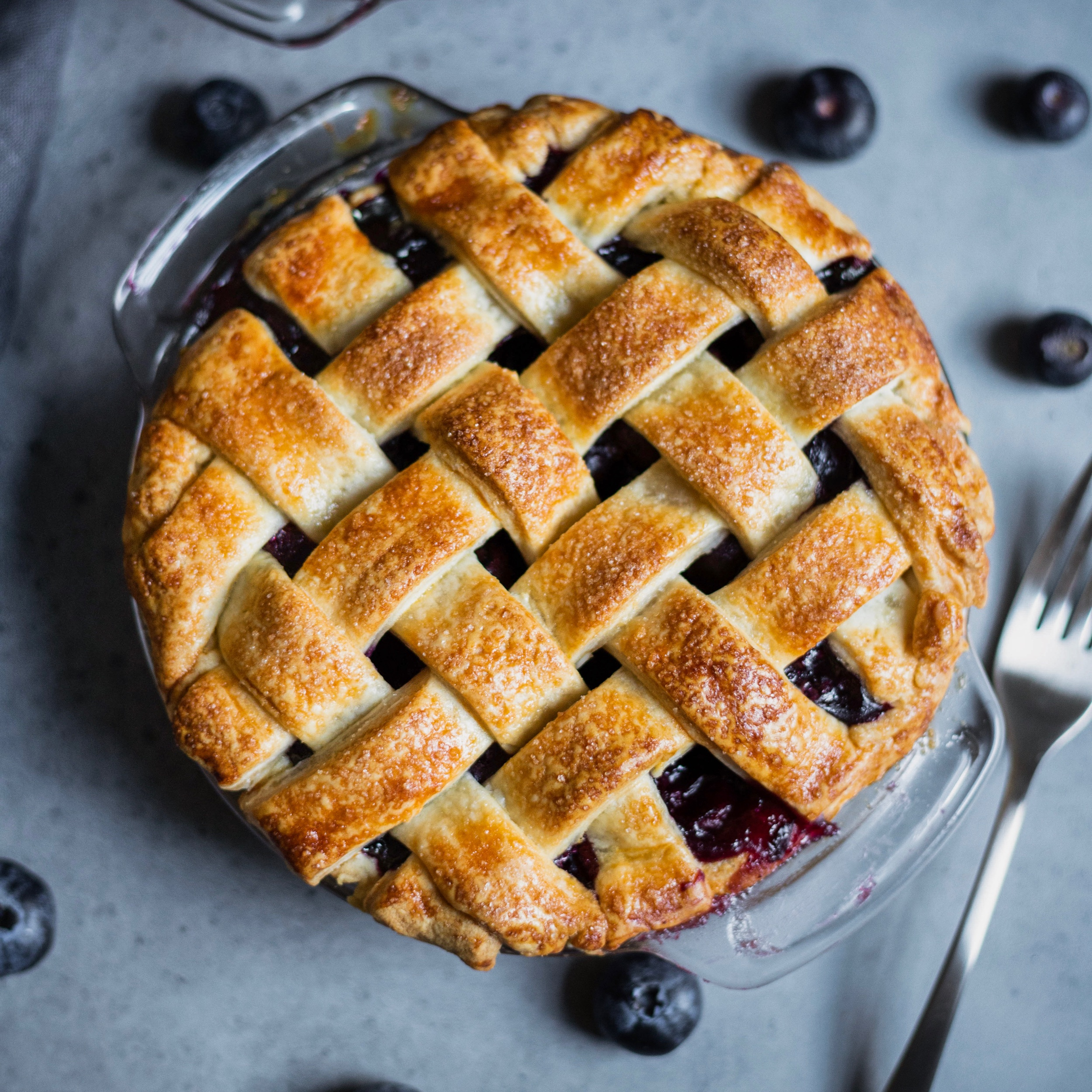 Mini Blueberry Pies -