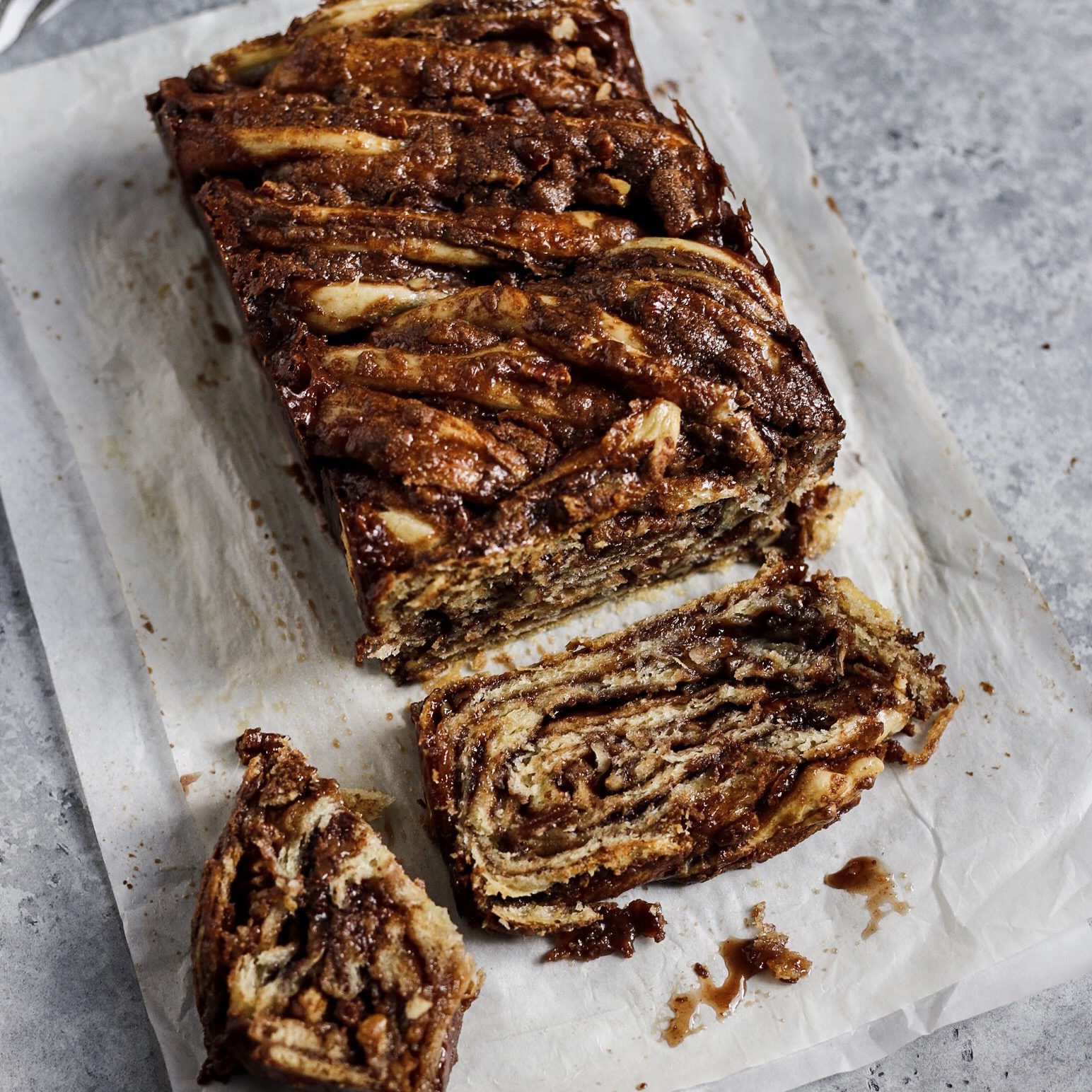Chocolate Hazelnut Pecan Babka -