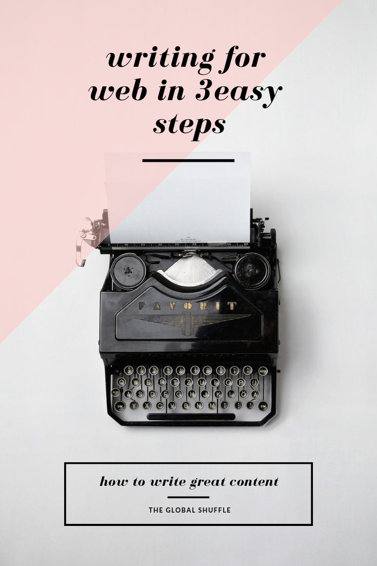 Writing For Web In 3 Easy Steps | The Global Shuffle