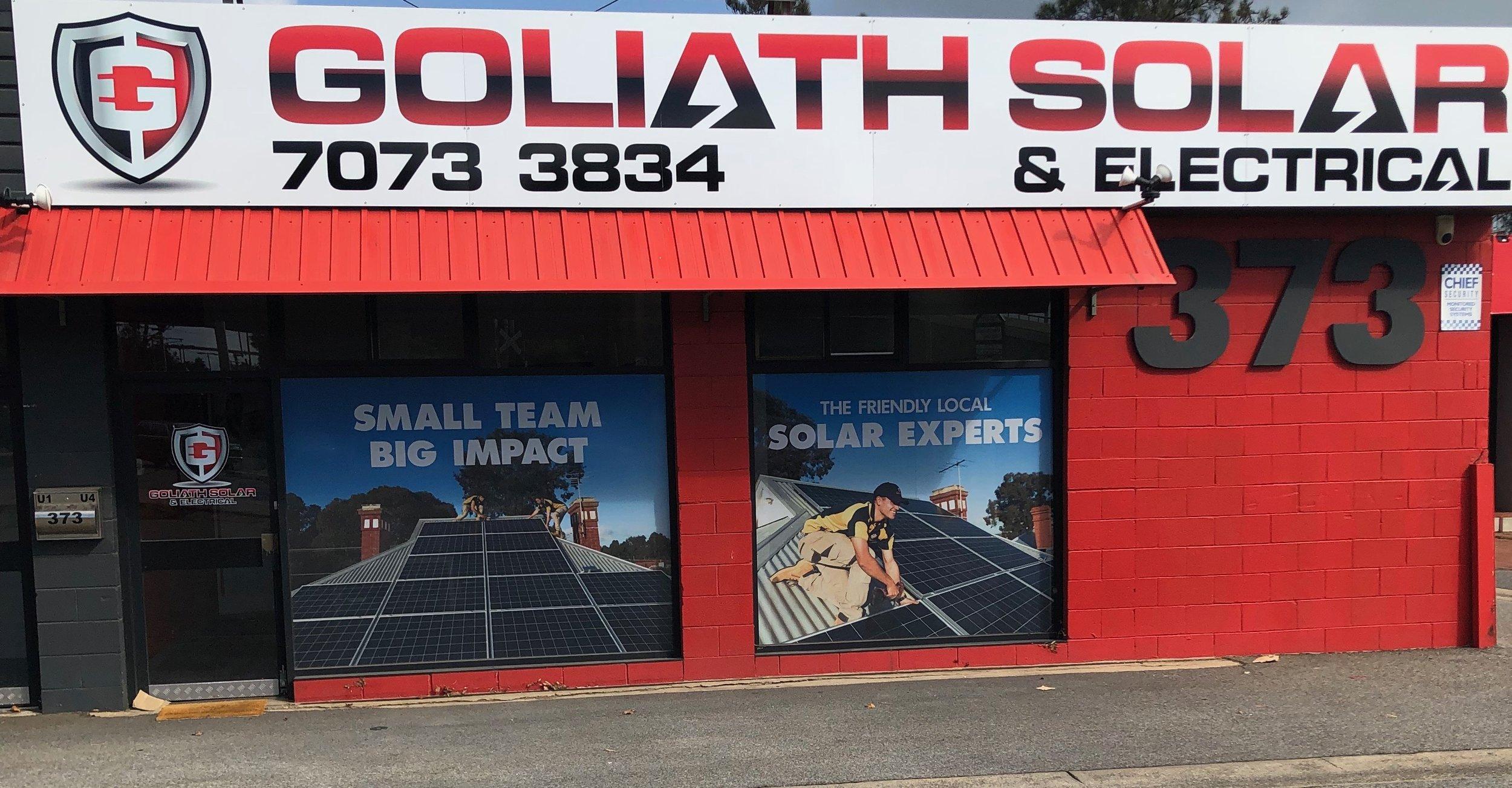 Goliath Solar & Electrical, Our Head Office : U4/373 Cross Road, Edwardstown SA 5039