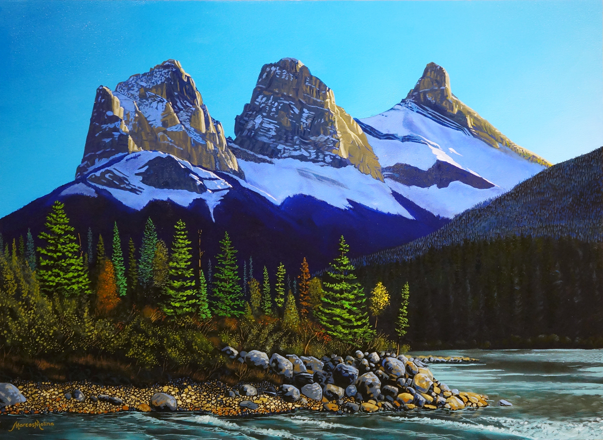 FLOATING TOWARDS THREE SISTERS - SOLD