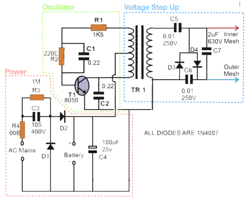 Insect Killer Circuit Diagram - Pest Control Diagram | Bat Wiring Diagram |  | Pest Control Diagram