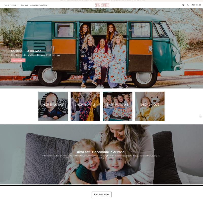Snug Blankets Site Example