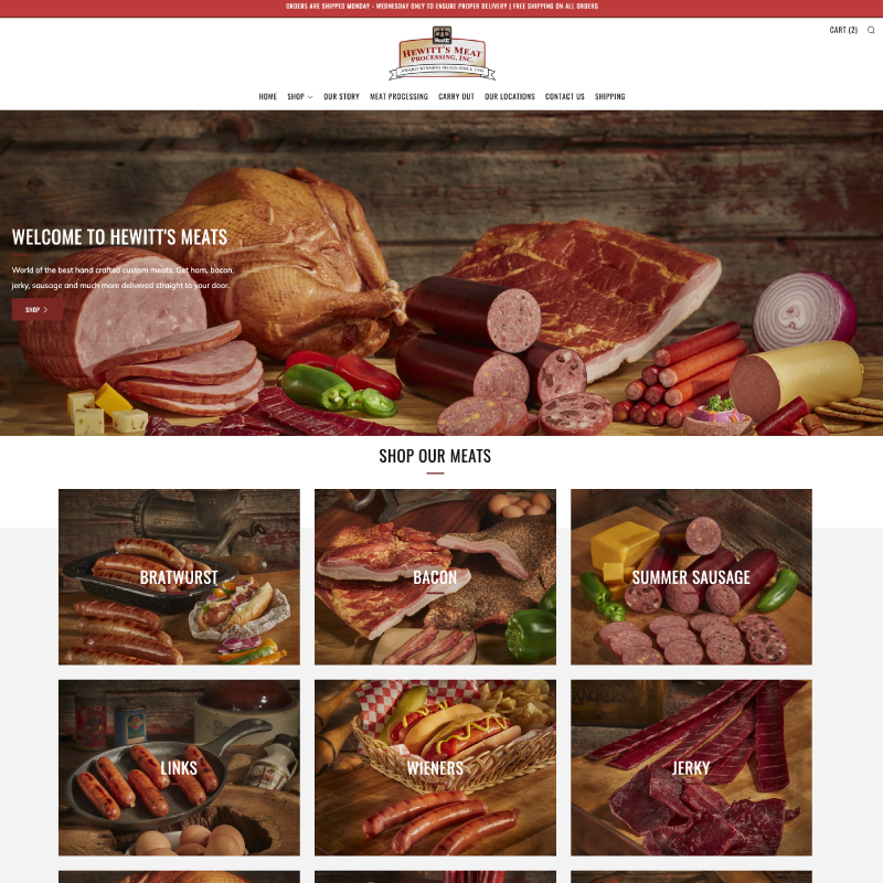 Hewitt's Meats Site Example