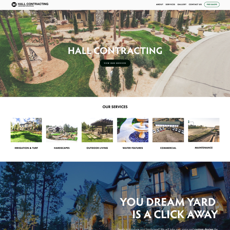 Hall Contracting Site Example