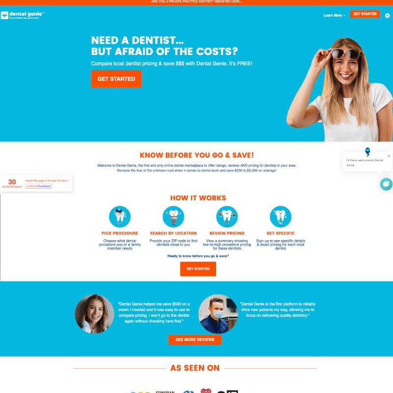 Dental Genie Site Example