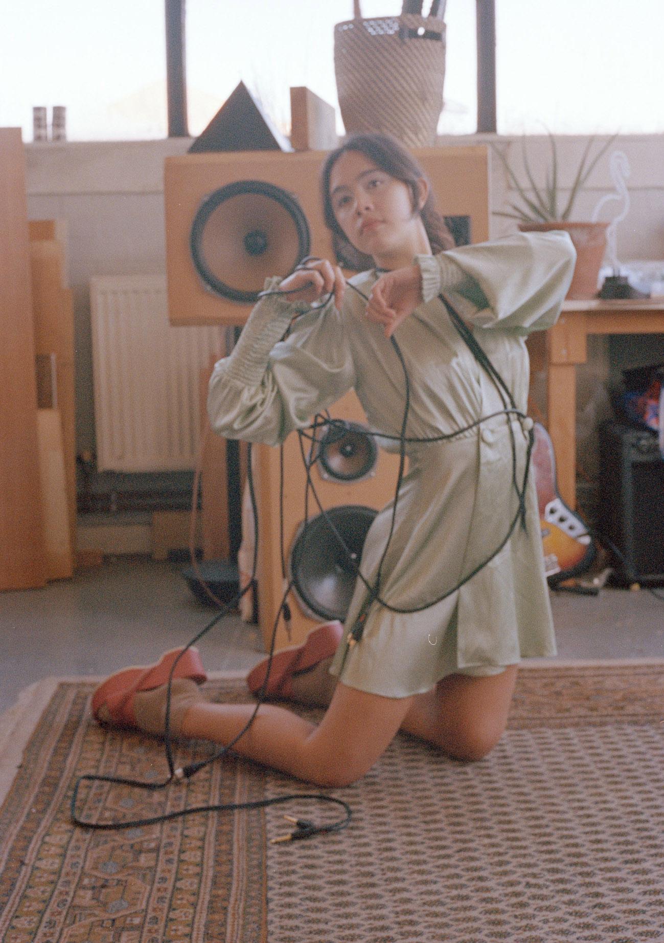 Dress  Fete Imperiale  Socks  Baserange  Shoes  Stylist's own