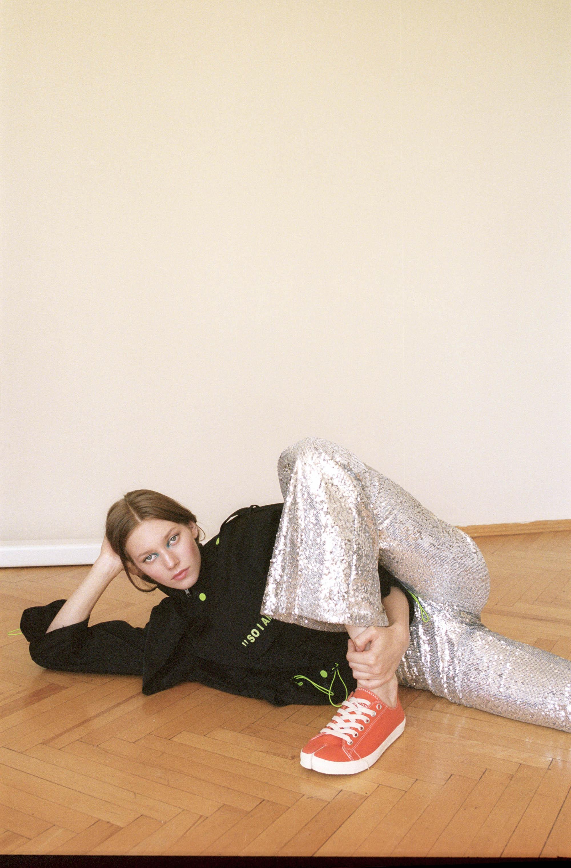Jacket  Anna Kiki  Trousers stylist's own Shoes  Maison Margiela