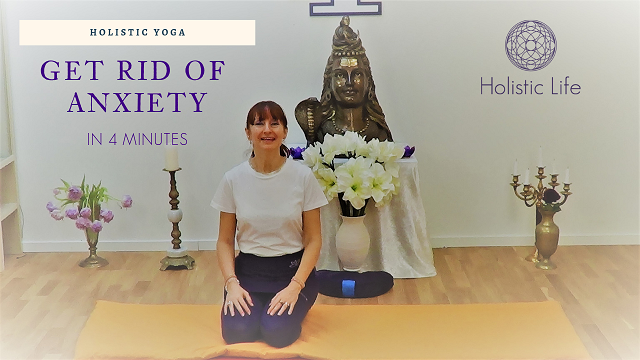 I suggest that you do the following holistic yoga technique before going, for example, to a meeting, to the dentist or to a medical check-up that you are very afraid of.