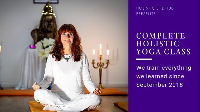 We train everything we learned since September 2018. Warming up exercises. 3 asanas. 1 pranayama (breathing) technique. Shavasana - the complete yoga relatation