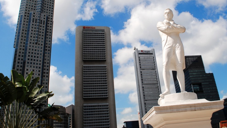 Side story:  Ironically where we were, was near the landing site where our founding father, Sir Stamford Raffles, landed in 1918. Photo Credit: Mothership.sg Read the article  here .