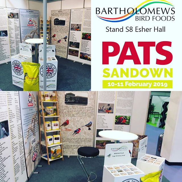 Why not come visit us at our trade stand S8 at PATs at Sandown today and tomorrow. It's always good to see customers old and new  #patssandown #pats2019 #tradeshow #manufacturing #bartsbirdfood #birdfood  #wildbirds #processing #quality #assured #production #madeintheuk #sandownpark