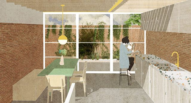 Concept design for our latest project, exposed brick, timber joists and crittall glazing - can't wait for this one