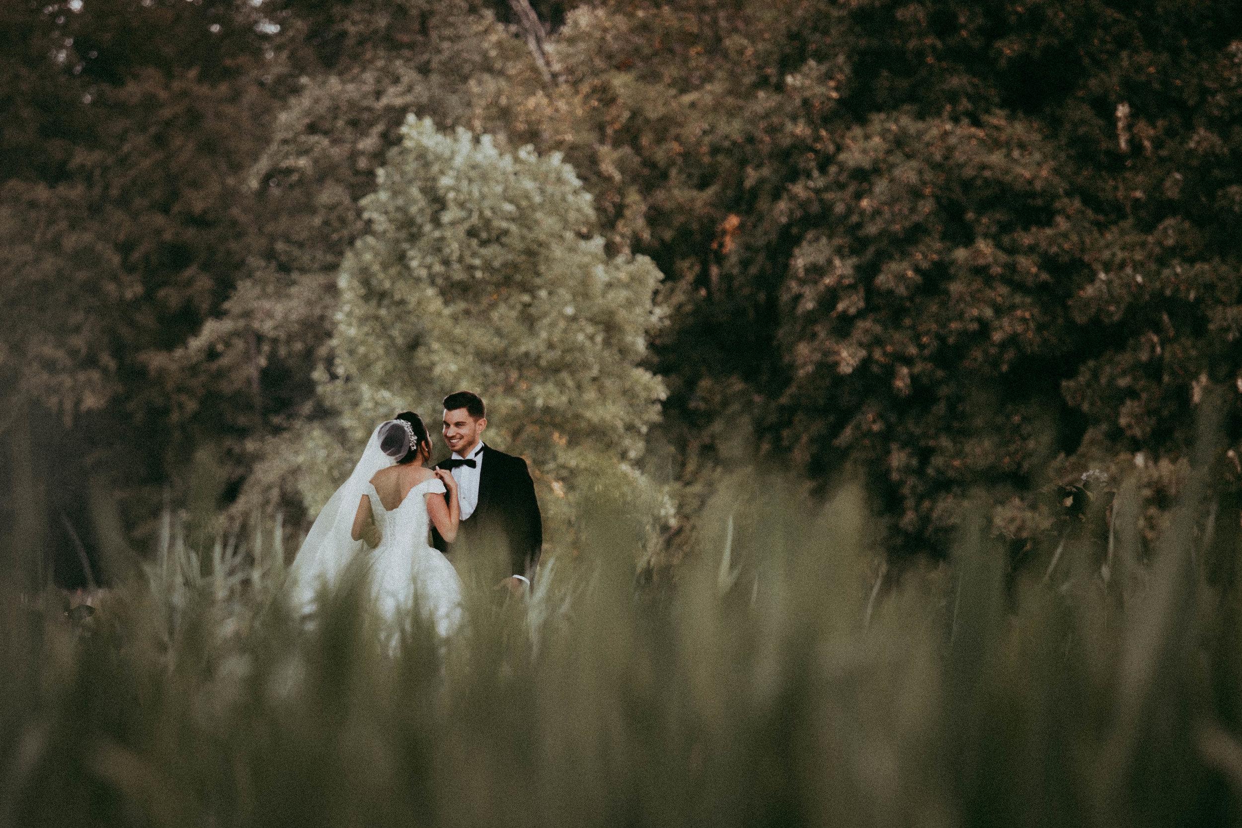 Schöne Braut und Bräutigam in der grünen Natur.jpg