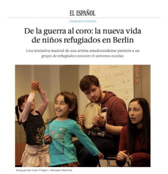 """"""" De la guerra al coro: la nueva vida de niños refugiados en Berlin. """"   El Español"""