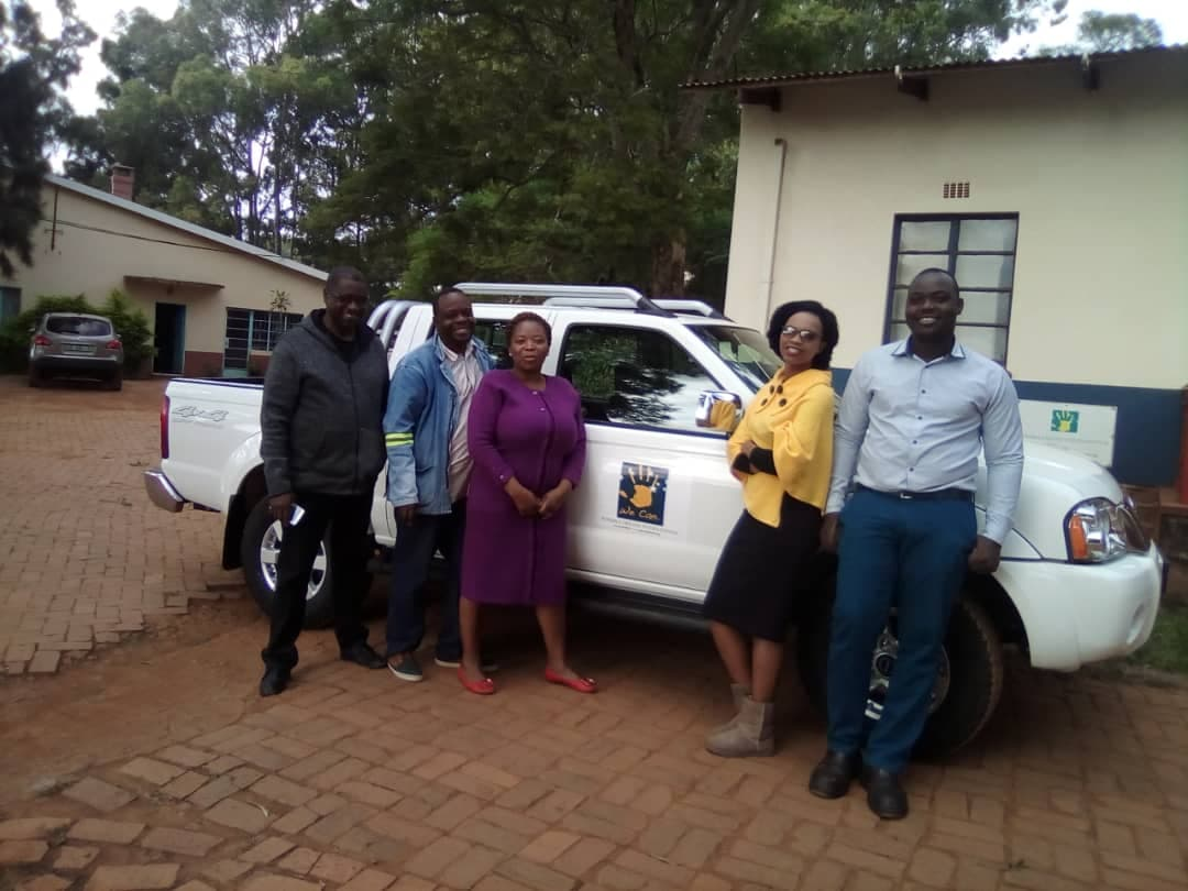 Our Swazi team is ready to hit the bush and deliver the much needed services to our clients!   From left: Ray, Makhundu, Thembi, Precious and Sibusiso